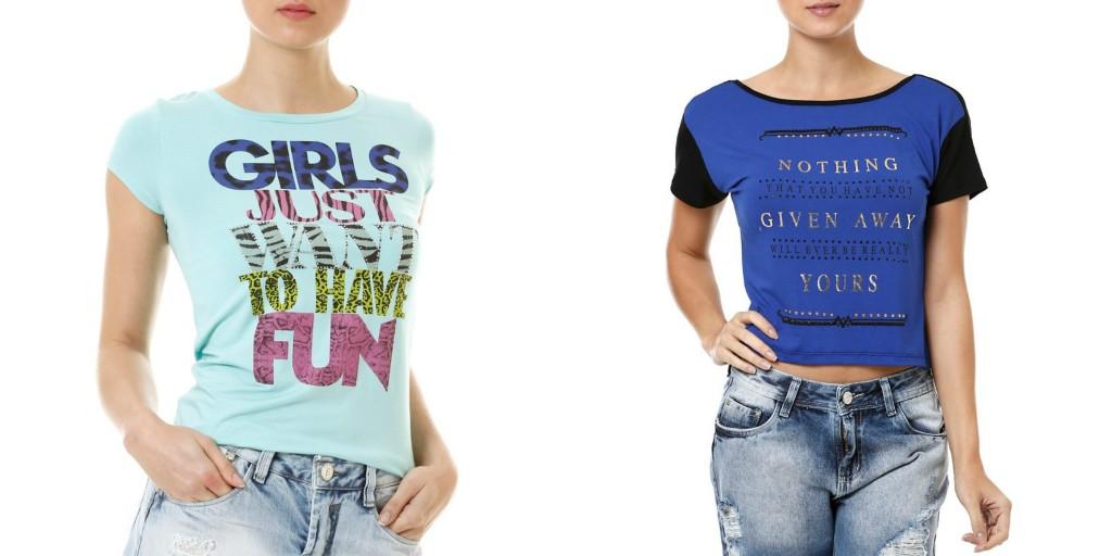 t-shirt peça basica lojas pompeia