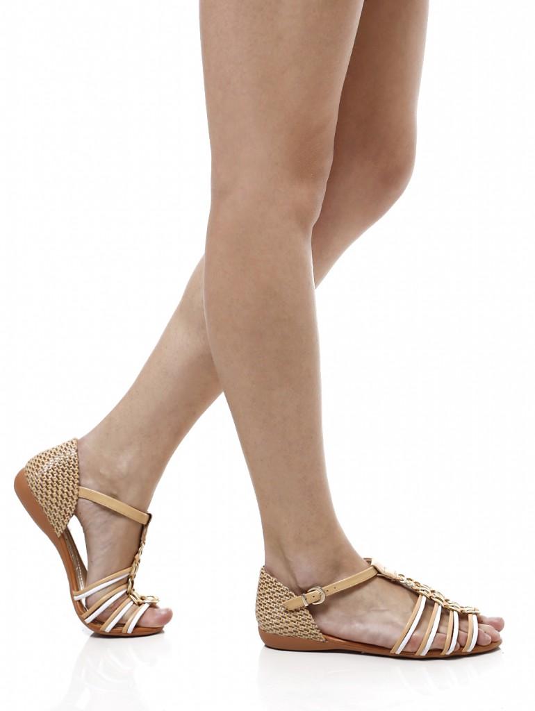 sapatos flat sandalia rasteira lojas pompeia
