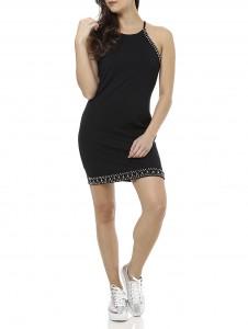 vestido sofisticado e tenis metalizado lojas pompeia