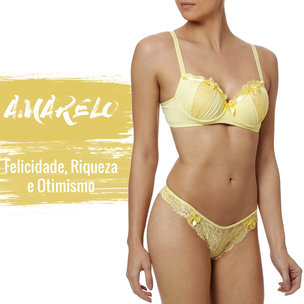 lingerie amarela para o ano novo lojas pompéia