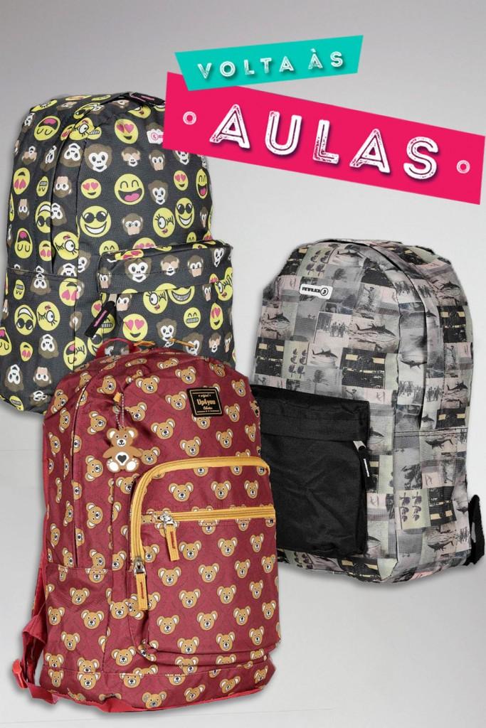 mochilas para volta as aulas lojas pompeia