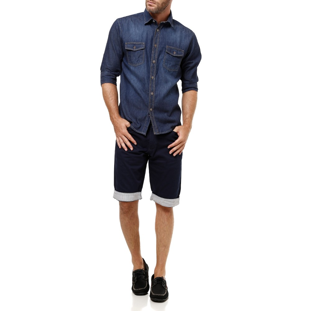 Camisa Jeans com Bermuda - Lojas Pompéia