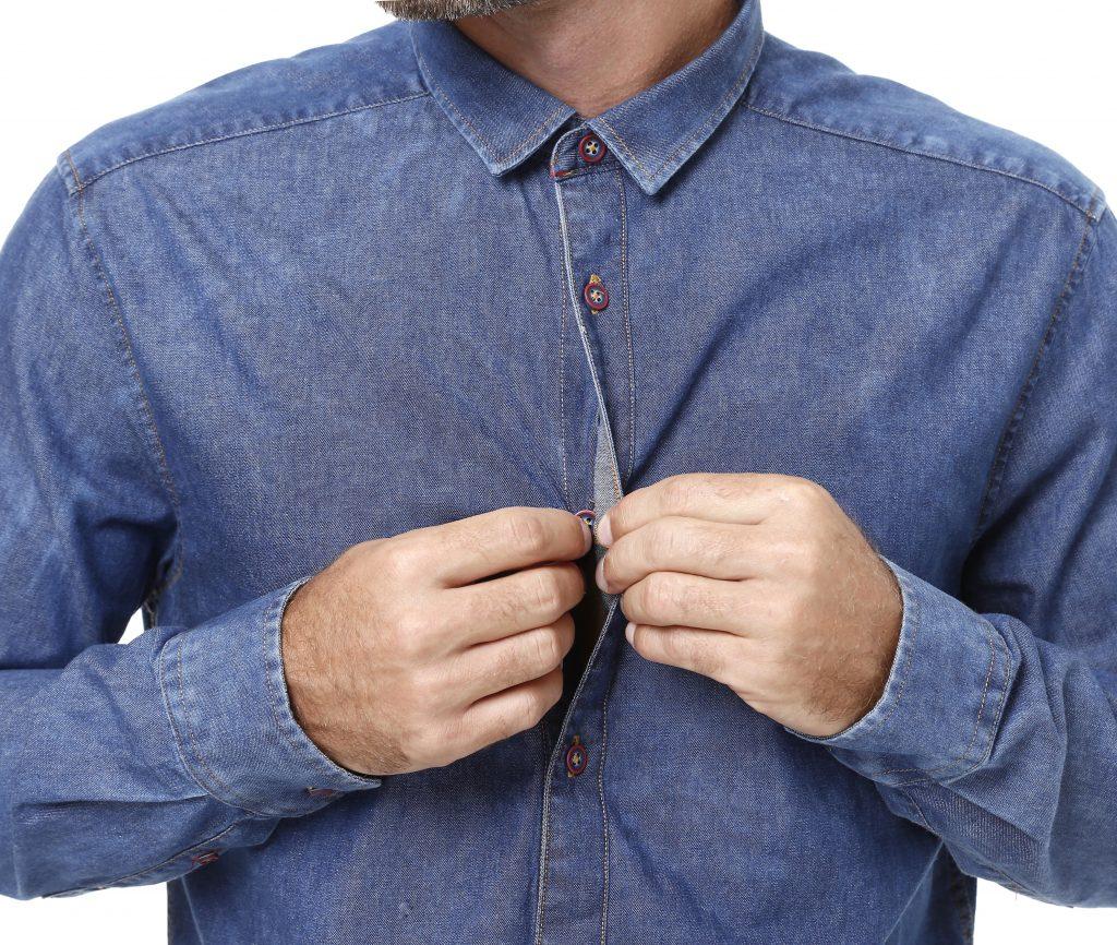 camisa jeans: clássica e flexível, lojas pompéia