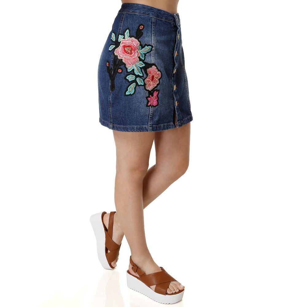 Jeans bordado - Lojas Pompéia