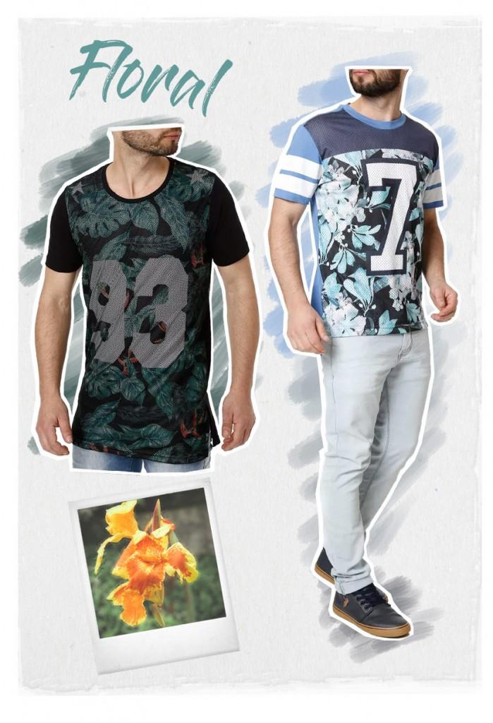 Tendências masculinas floral - lojas pompeia
