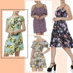 Vestidos florais - Lojas Pompéia