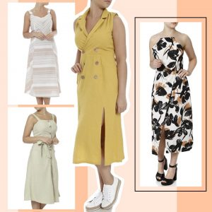 Vestidos em Linho - Lojas Pompéia