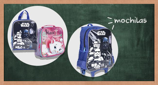 O post é uma montagem com modelos de mochilas infantis