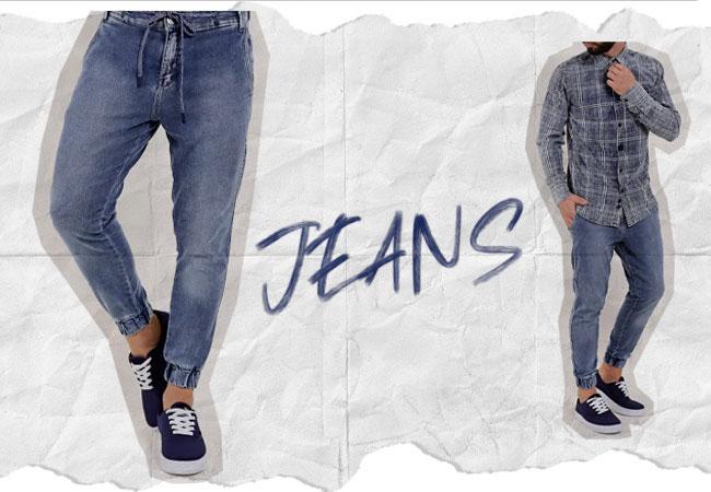 Calça Jogger Jeans Lojas Pompéia
