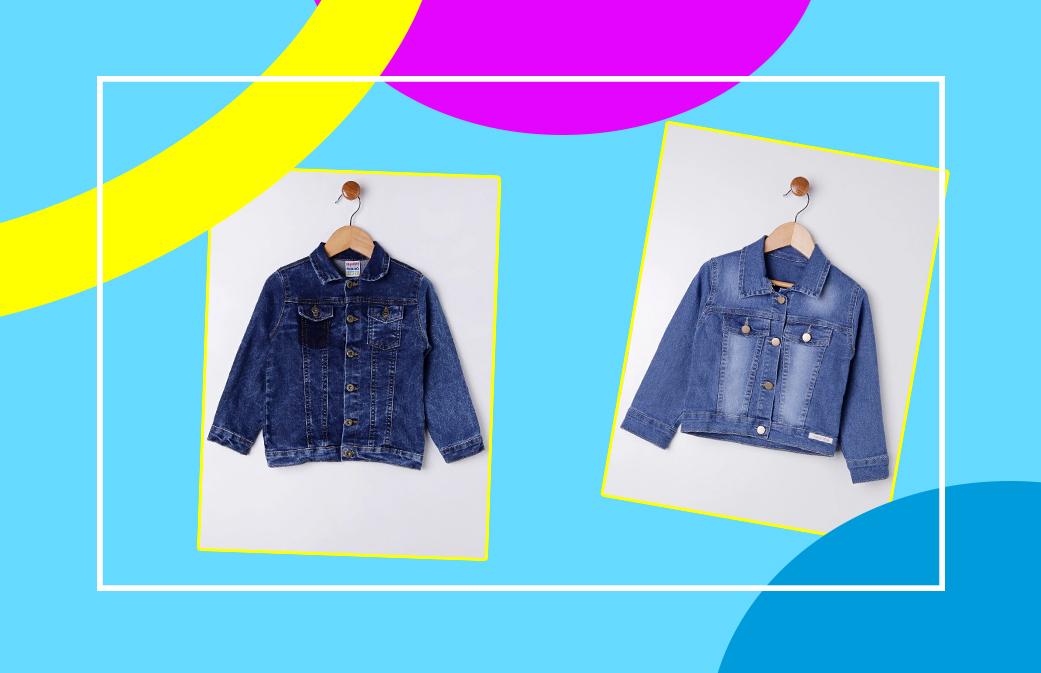 Jaqueta jeans mala de férias das crianças - Lojas Pompéia